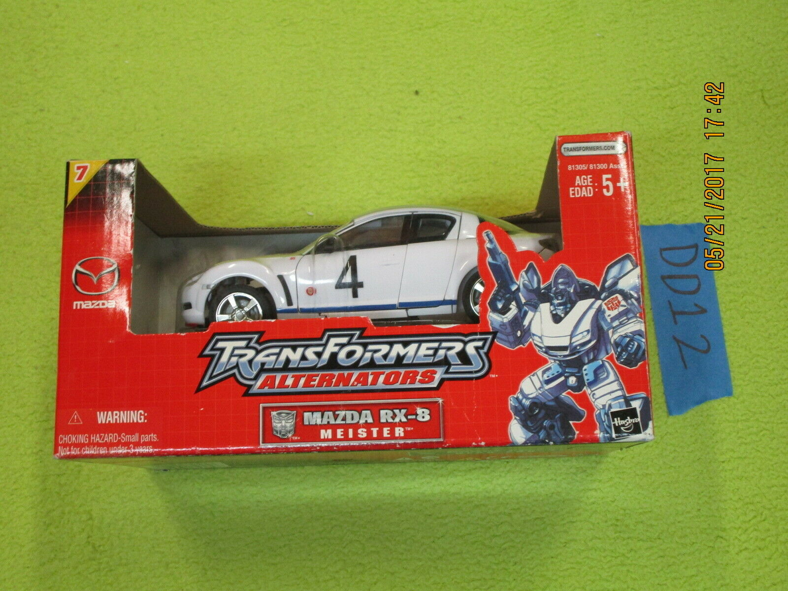 TRANSFORMERS ALTERNATORS Lot Autobot Jazz avec reprolabels Meister MAZDA RX-8 Comme neuf IN BOX