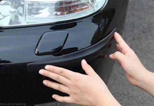2pcs Universal Black Carbon Fiber Car Bumper Anti-Scratch Corner Protector Guard