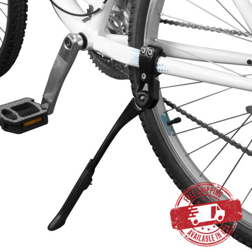 "BV Bike Kickstand Rear Adjustable Bicycle Aluminum Side Stand 24-29/"" NEW KA70-BK"