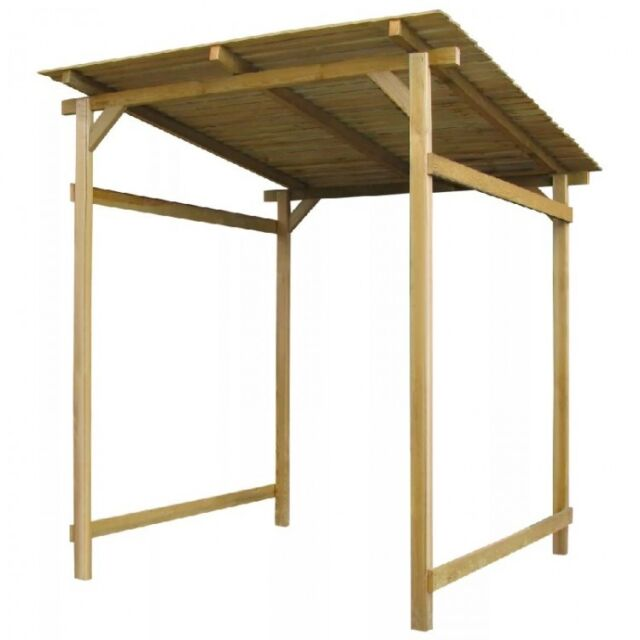 Diy Sheds For Sale: Wooden BBQ Shelter Inclined Roof Solid Wood Garden Tools