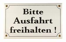 Emaille Schild Bitte Ausfahrt freihalten Parkverbot parken Emailleschild 25x15cm