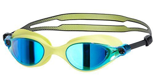 Speedo Swimming Goggles Unisex Vue Mirror V Class SD97G20 Lime / Blue New