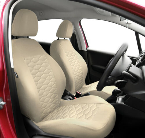 beige leatherette Eco leather CAR SEAT COVERS full set fit Toyota Yaris