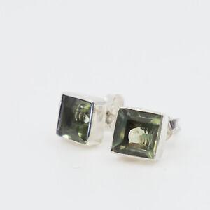 Gruenquarz-Amethyst-Ohrstecker-Silber-925-Quadrat-Ohrringe-cutstone-eckig-qsts