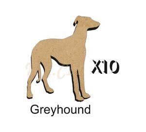 MDF-Shape-Dog-10-Greyhound-MDF-cutouts-Keyring-Sizes-FREE-Hole-DOGW013