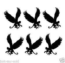 Flying Monkeys - Set of 6 - Car or Wall or Sign  Vinyl Decal - Select Color