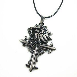 Mens stainless steel lion head cross pendant chain sleeping image is loading men 039 s stainless steel lion head cross aloadofball Images