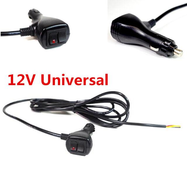 12v 10 FT 3 Wires Cigar Lighter Socket Plug Connector With on off ...
