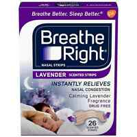 Breathe Right Scented Nasal Strips, Lavender 26 Ea (pack Of 4) on sale