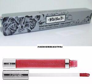 BNIB-Kat-Von-D-Foiled-Love-Liquid-Lipstick-ADORA-bright-red-FULL-SZ-AUTH-RARE