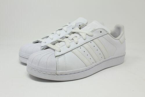 Adidas Superstar Foundation J # B23641 Triple White GS Big Kids SZ 3.5-7