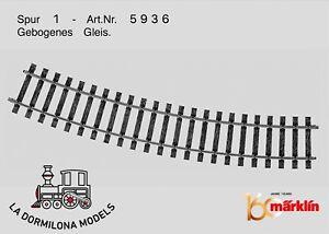 """HonnêTeté MÄrklin 5936 Spur 1 Gebogenes Gleis / Curved Track / Radius 1,176 Mm / 46-1/4""""."""