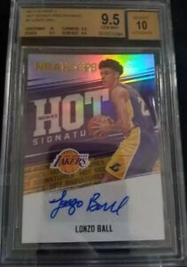 55566d2065e LONZO BALL 2017-18 HOOPS HOT SIGNATURES ROOKIES AUTO BGS 9.5 10 ...
