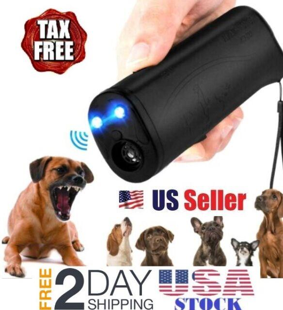 Stop Dog Barking Ultrasonic Pet Trainer LED Light Gentle Chaser Dog Controller