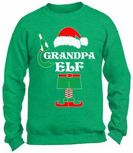 Grandpa Elf Sweatshirt Ugly Christmas Sweater Christmas Elf Beer