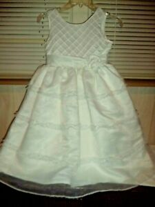 b9f0873c71c Girl s JAYNE COPELAND Dress White Special Occasion Size 8 Really ...