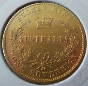 1870-Australia-Sydney-Mint-Sovereign-91-67-Gold-7-9881g-This-Coin