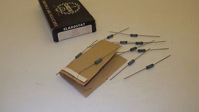1 CLAROSTAT GREENOHM PR-10-F 1250 OHM 10 WATT FIXED  RESISTOR NOS