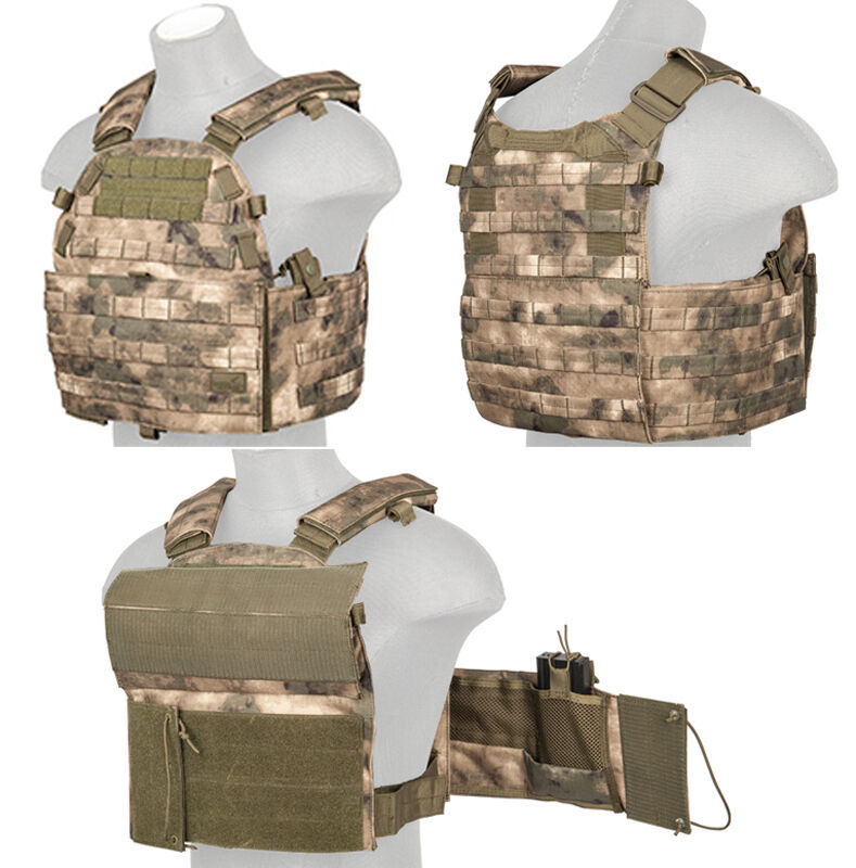 Tactical MOLLE  Plate Carrier Vest Triple Inner Mag Pouch Assault Gear in AT-FG  fast shipping worldwide