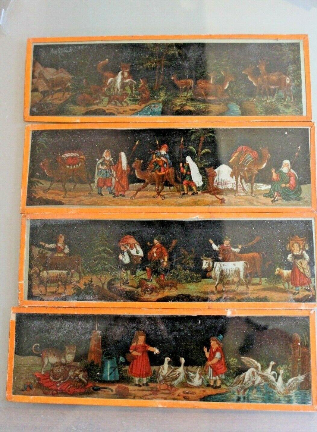 Bündel 4 Platten Glas für Windlicht Magisch 1900 Tiere