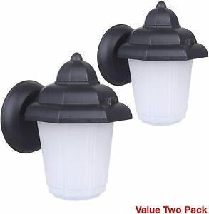 CORAMDEO-Outdoor-LED-Wall-Sconce-Light-Durable-Aluminum-with-Black-Finish-2-Set