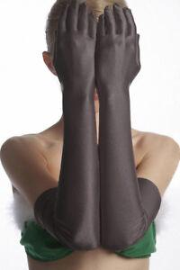 Satinhandschuhe lang elegante Handstulpen aus Satin