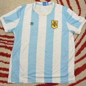 Details about Argentina Home football shirt 2013/2014 jersey adidas Retro AFA XL Messi F77280