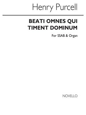 Henry Purcell Beati Omnes Qui Timent Dominum Satb Vocal Voice Choral Music Book Voice