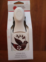 Martha Stewart Vintage Dove Double Craft Punch - Christmas Holiday