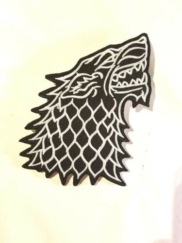Iron on Patch Large Game of Thrones Wolf sew on Patch