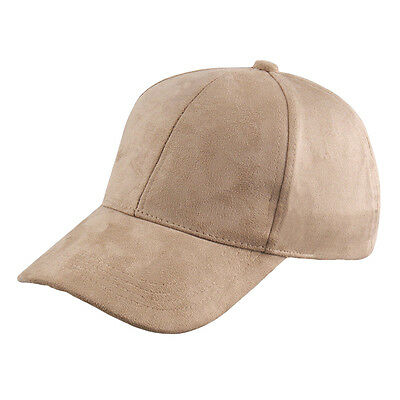 Fashion Men Women Suede Baseball Cap Snapback Visor Sport Sun Adjustable Hat