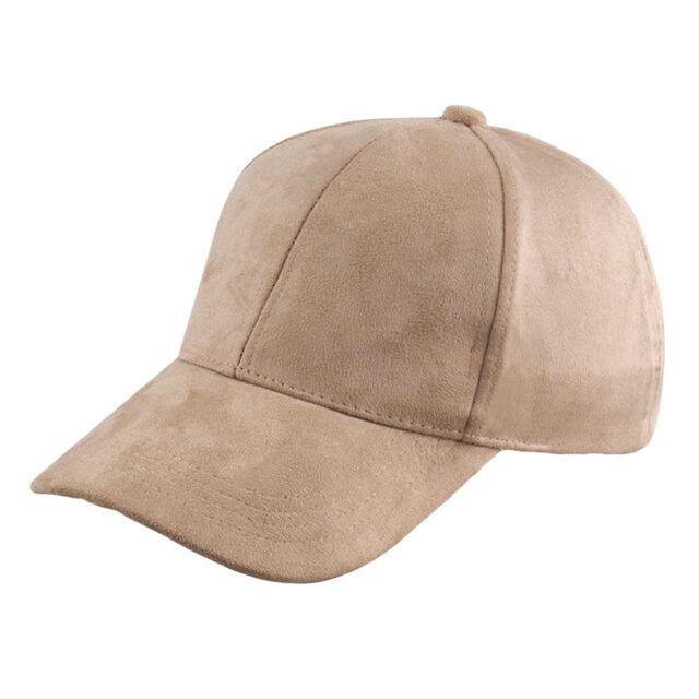 Unisex Men Women Suede Baseball Cap Snapback Visor Sport Sun Adjustable Hat ES