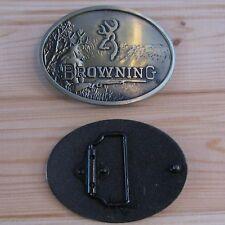 Browning hunting deer buck belt buckle (choice designs)