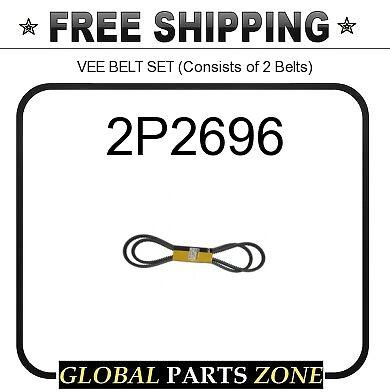 Consists of 2 Belts CAT VEE BELT SET 2Y6318 for Caterpillar 2P2696