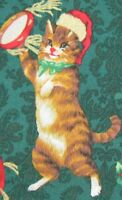 Hoffman Fabric-cats(kittens) Christmas Party By The Yard