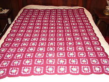 ~ NEW Handmade Handcrafted Crochet Afghan Throw Blanket ~ Granny Square Pattern
