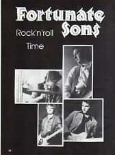 Q24 Clipping-Ritaglio 1987 Fortunate Sons - Rock'n'roll Time