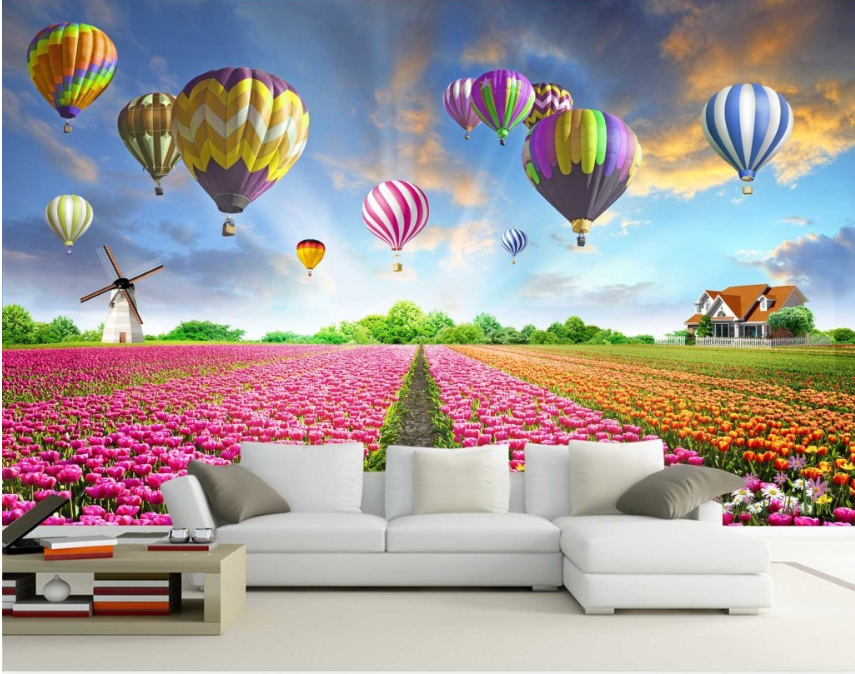 3D Hot Air Balloon Flowers 54 Wall Paper Wall Print Decal Wall AJ WALLPAPER CA
