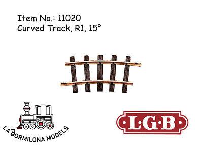Puntuale Lgb 11020 Gebogenes Gleis, R1, 15° Curved Track / Spur G / New Vari Stili