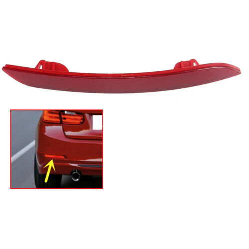 Rear Bumper Reflector Cover Red Left Lens Fit For BMW 3 Series F30 F31 F35