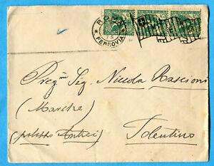 1906 Flo.c.5 Striscia Di Tre Ann.roma.(278599)