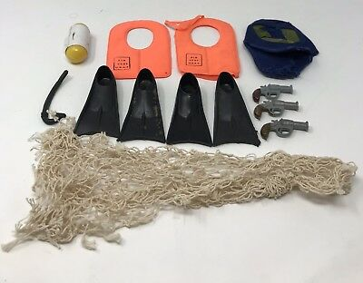 Scubadiving 13 GI of Toys Guns Lot 181960F Vintage Rescue Joe Army Accessories pT8q6x
