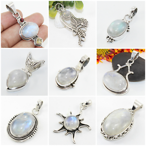 925-SOLID-STERLING-SILVER-RAINBOW-MOONSTONE-JEWELRY-PENDANT-FOR-NATURAL-BEAUTY