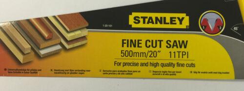 """Stanley 120101 coupe fine scie à main 20/"""" 500mm 11 tpi stratifié perles pvc"""