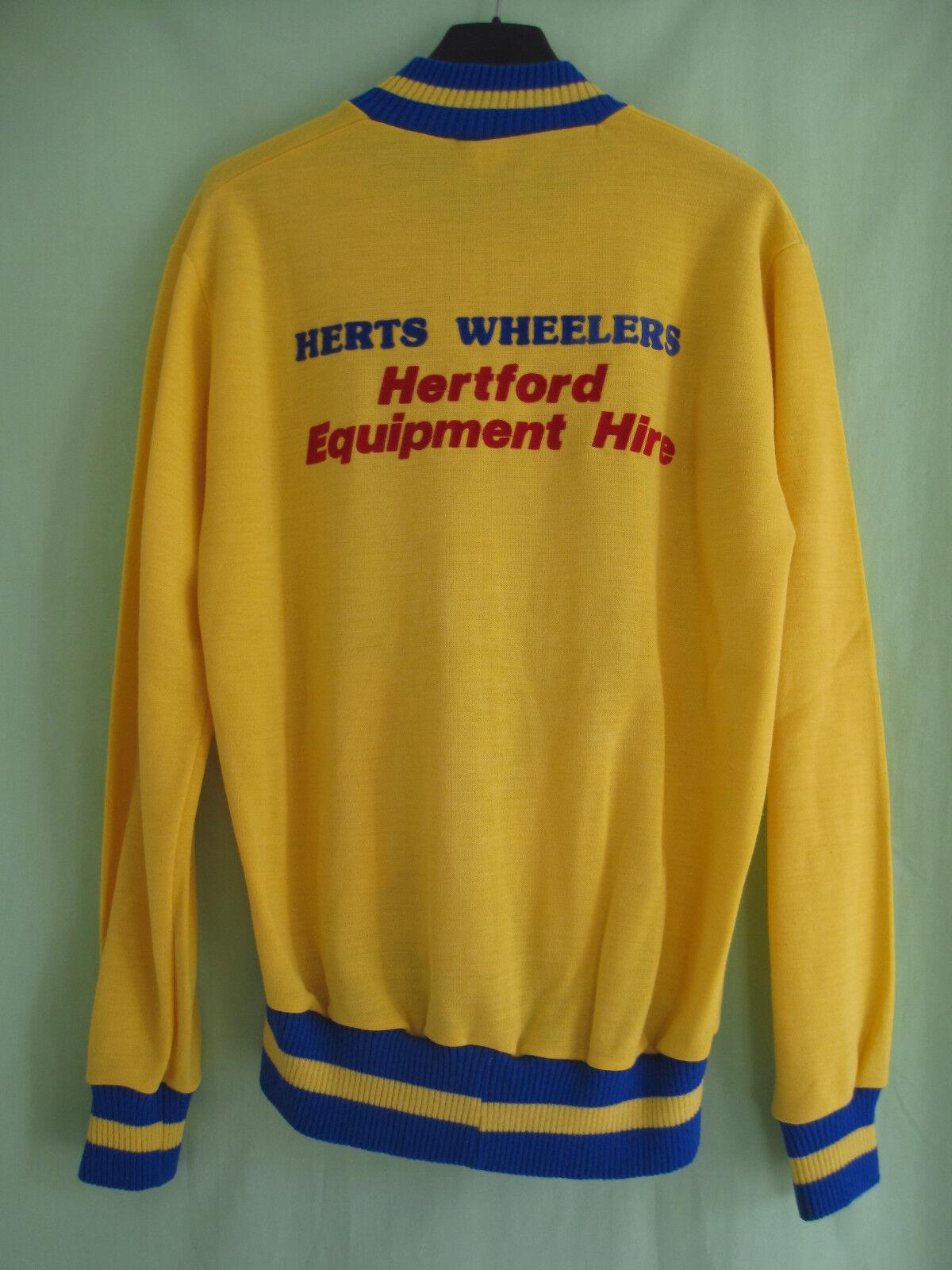 Veste cycliste Hertford vintage Herts wheelers Acrylique yellow Gibsport - S