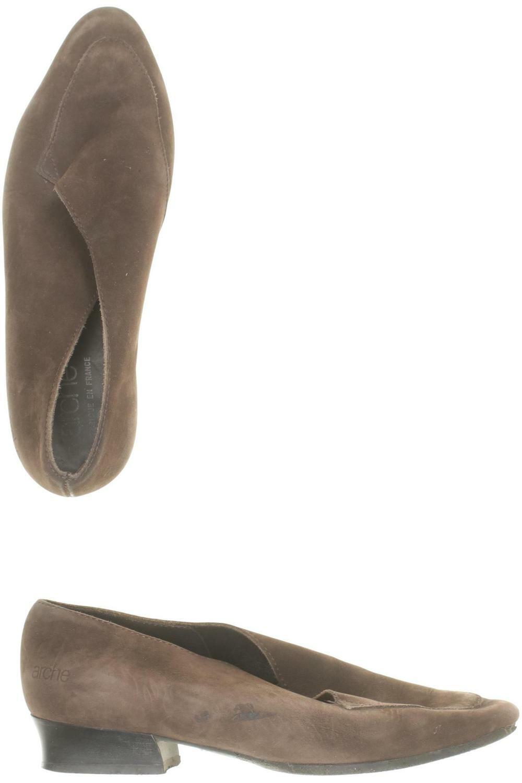 Arche Halbschuh Damen Slipper feste Schuhe Gr. DE 38 Leder braun  e054f2d