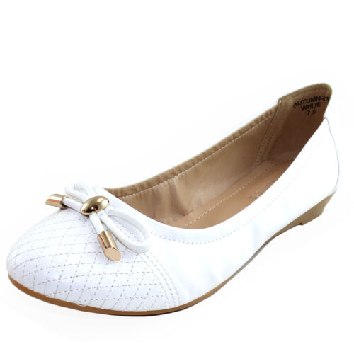 New women/'s shoes low heel wedge pump work casual party winter summer white bow