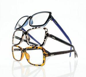 Leather Frame Reading Glasses : Fashion Rectangle Frame Comfy Light Reading Glasses ...