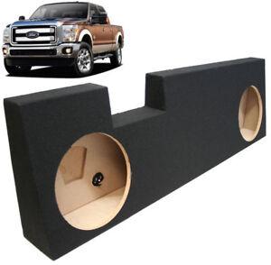 2001-2014-Ford-F250-Super-Crew-Truck-Dual-12-034-Stereo-Subwoofer-Enclosure-Sub-Box