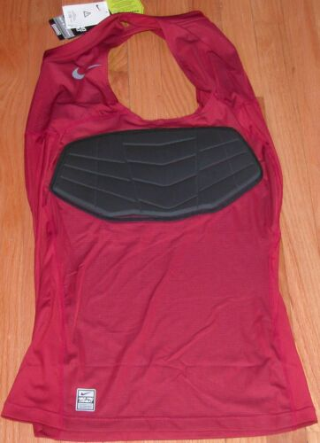 NIKE PRO COMBAT HYPERSTRONG BASKETBALL PADDED SHIRT TANK GRAY BLUE MAROON RED